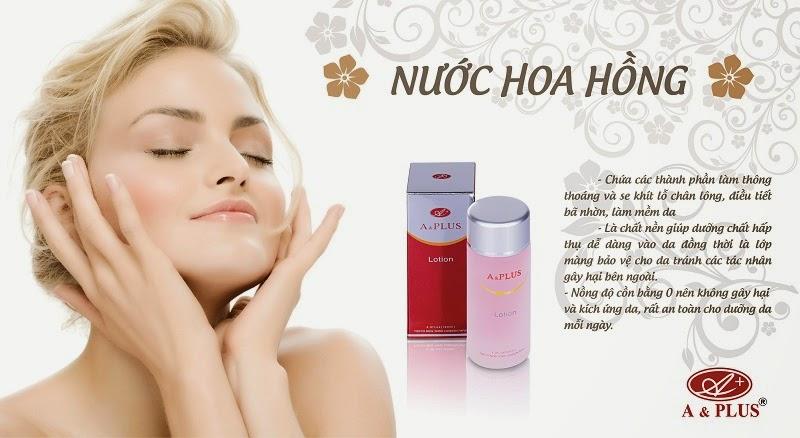 nước hoa hồng A&PLUS se khít lỗ chân lông hiệu quả