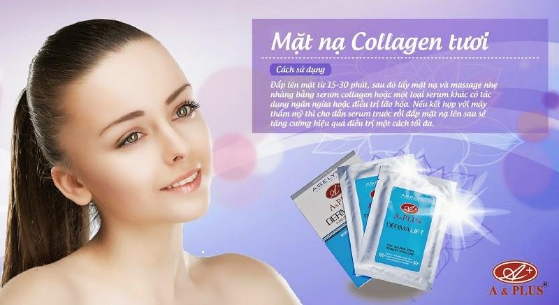 mặt nạ collagen tươi trẻ hóa da a&plus